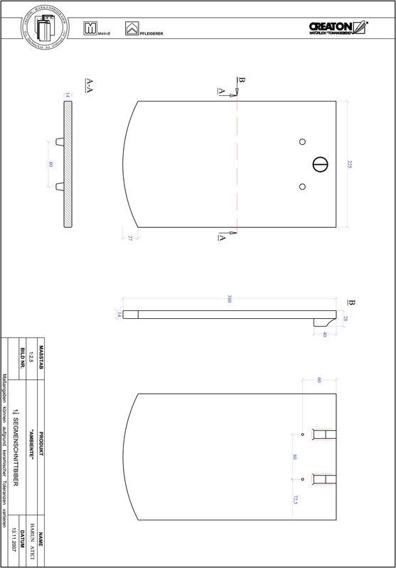 Súbor CAD škridly AMBIENTE segmentový rez SEG-1-1-4