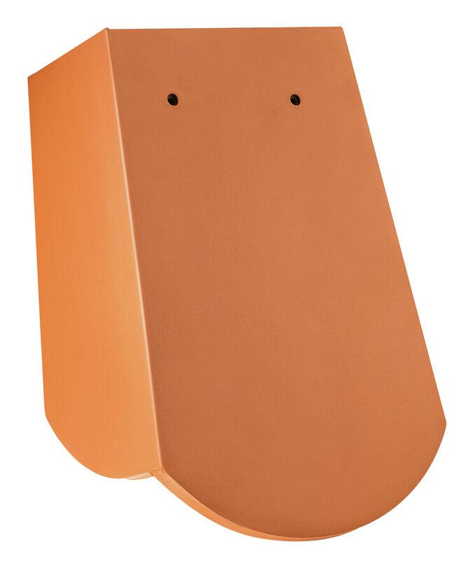 Saxony bobrovka, 18 x 38 x 1.2 with 3 grooves, segmentový tvar krajná škridla posuvná s krátkym bočným zalomením pravá