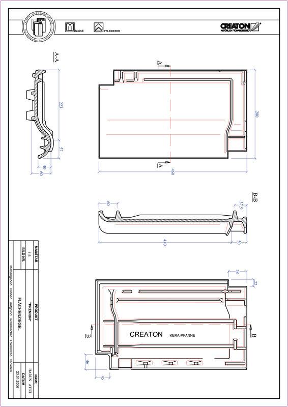 Súbor CAD škridly PREMION škridľa FLA