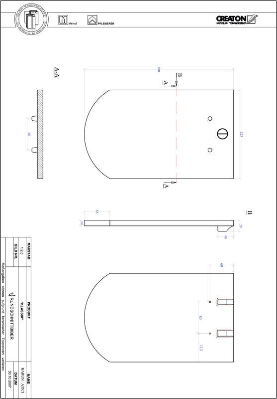 Súbor CAD škridly KLASSIK zaoblený vzor RUND-1-1-4