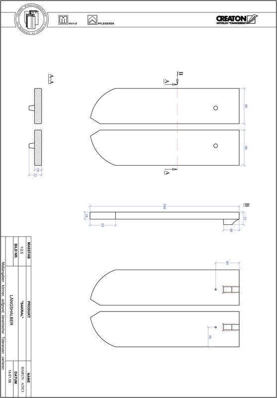 Súbor CAD škridly SAKRAL zaoblený vzor RUND-LH