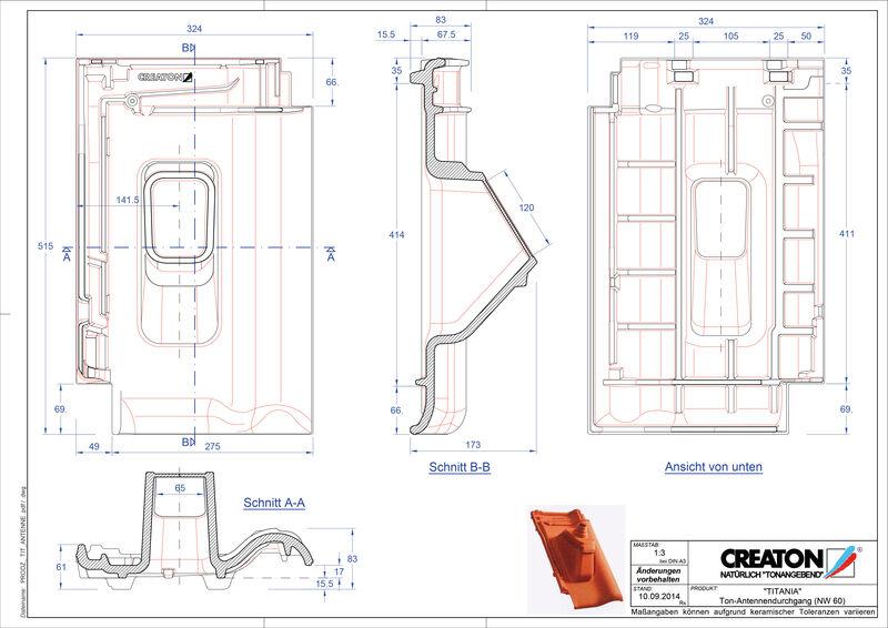 Súbor CAD škridly TITANIA anténna škridľa ANTENNE
