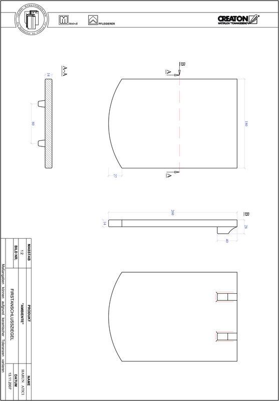 Súbor CAD škridly AMBIENTE segmentový rez SEG-FAZ