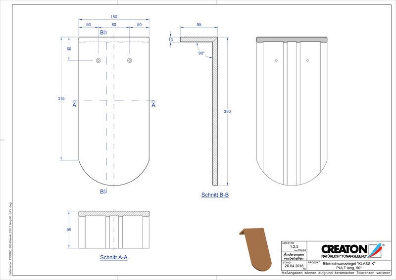 Súbor CAD škridly KLASSIK zaoblený vzor RUND-PULT-lang