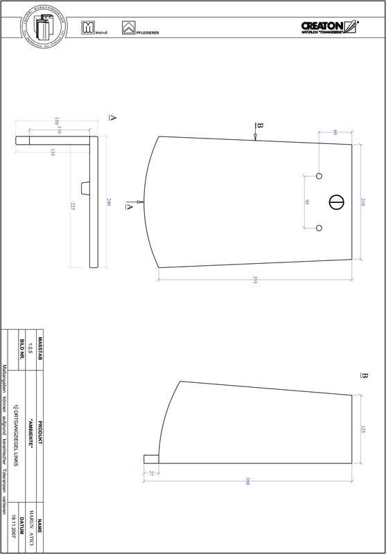 Súbor CAD škridly AMBIENTE segmentový rez SEG-OGL-1-1-4