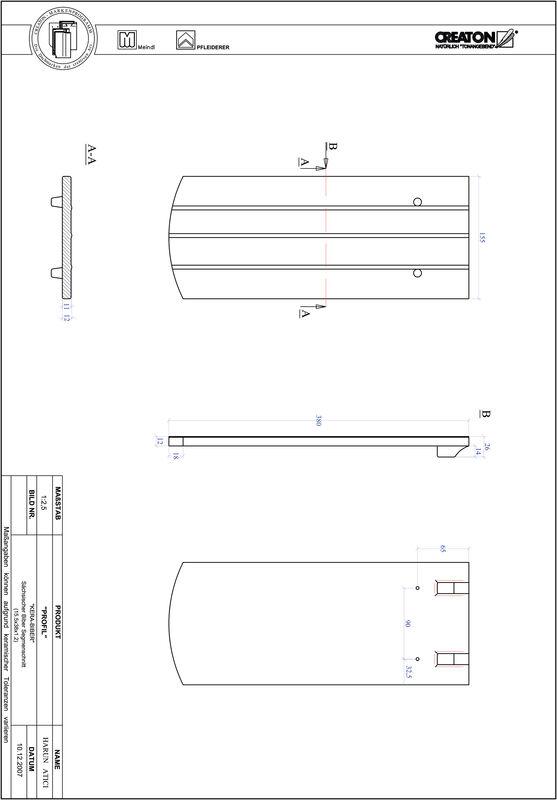 Súbor CAD škridly PROFIL segmentový vzor KERA-SAECHS-15-CM-1-1