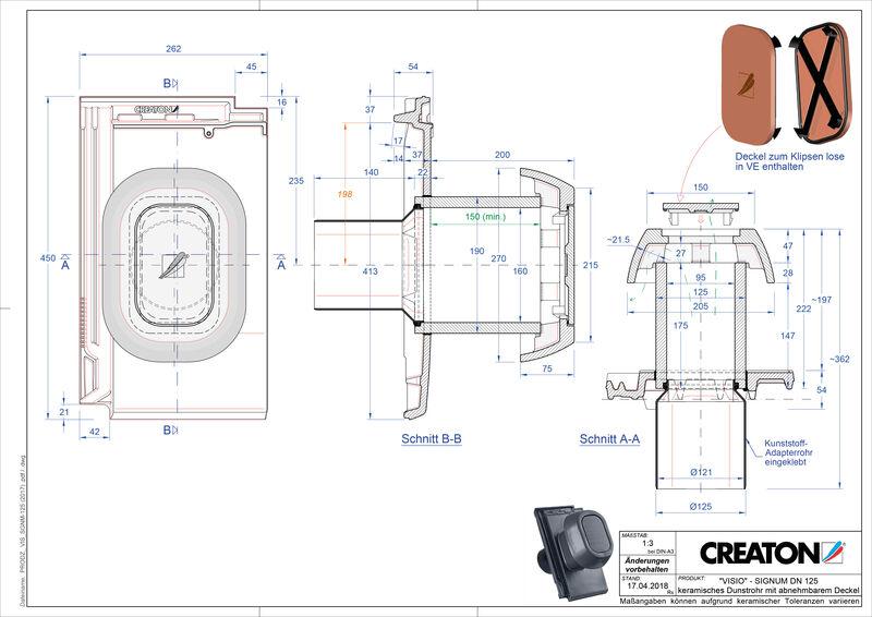 Súbor CAD škridly VISIO SIGNUM SIGNUM-125