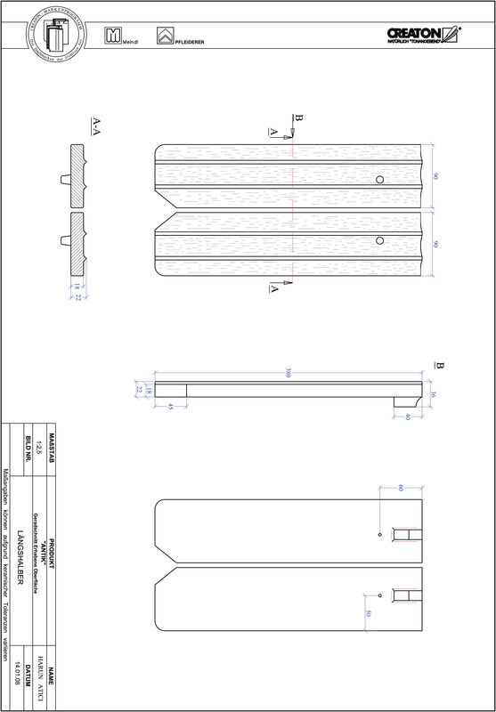 Súbor CAD škridly ANTIK rovný rez GER-LH