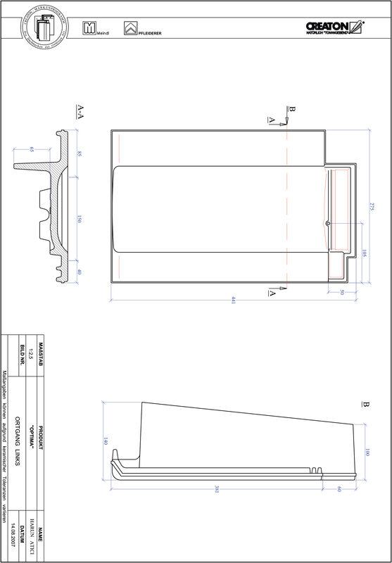 Súbor CAD škridly TERRA OPTIMA krajná škridľa ľavá OGL
