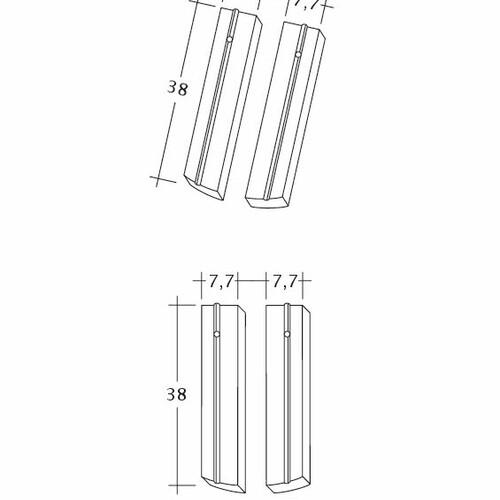 Technický výkres škridly PROFIL Kera-Saechs-15cm-1-2