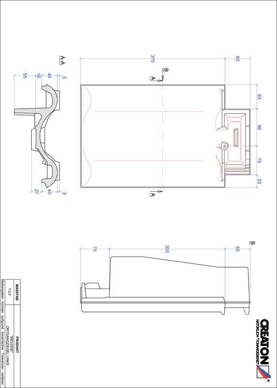 Súbor CAD škridly MELODIE krajná škridľa ľavá OGL