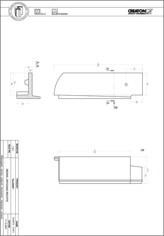 Súbor CAD škridly KLASSIK zaoblený vzor RUND-OGR
