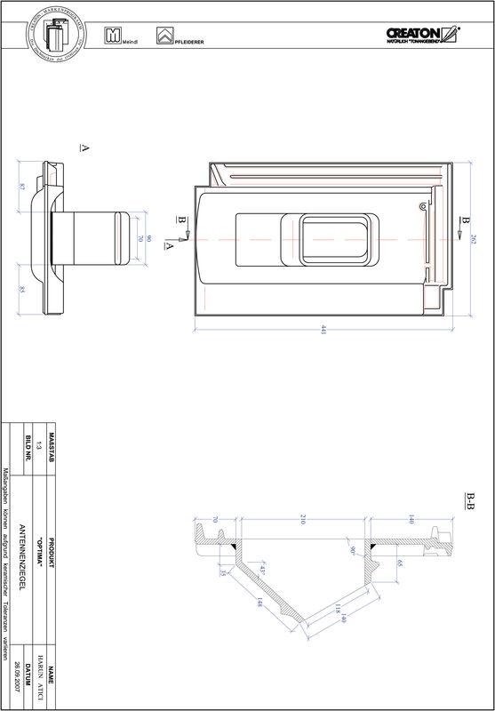Súbor CAD škridly TERRA OPTIMA anténna škridľa ANTENNE