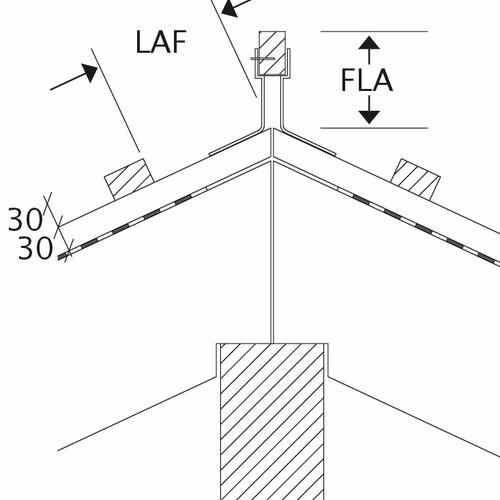 Technický výkres škridly všetky modely LAF-FLA
