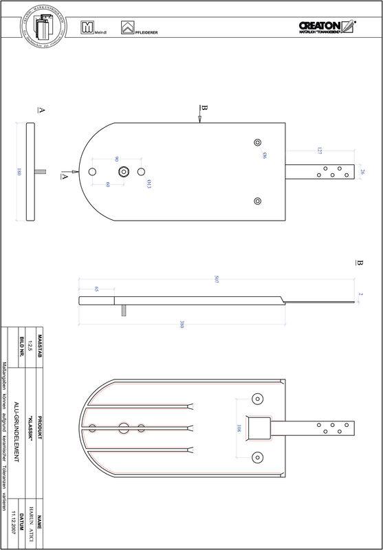 Súbor CAD škridly KLASSIK zaoblený vzor RUND-GRUNDALU