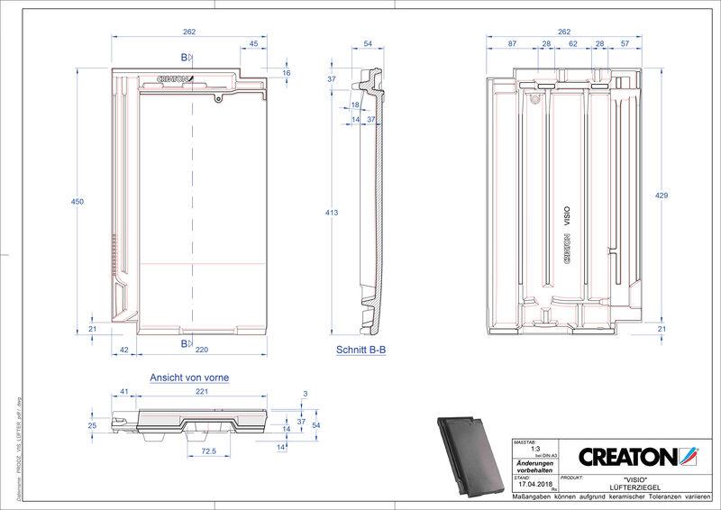 Súbor CAD škridly VISIO vetracia škridľa LUEFTZ