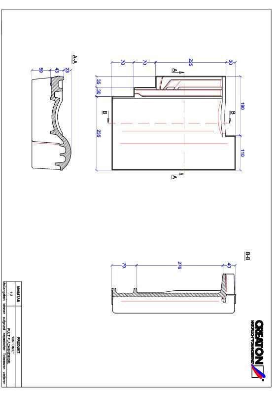 Súbor CAD škridly SINFONIE pultová škridľa PULT