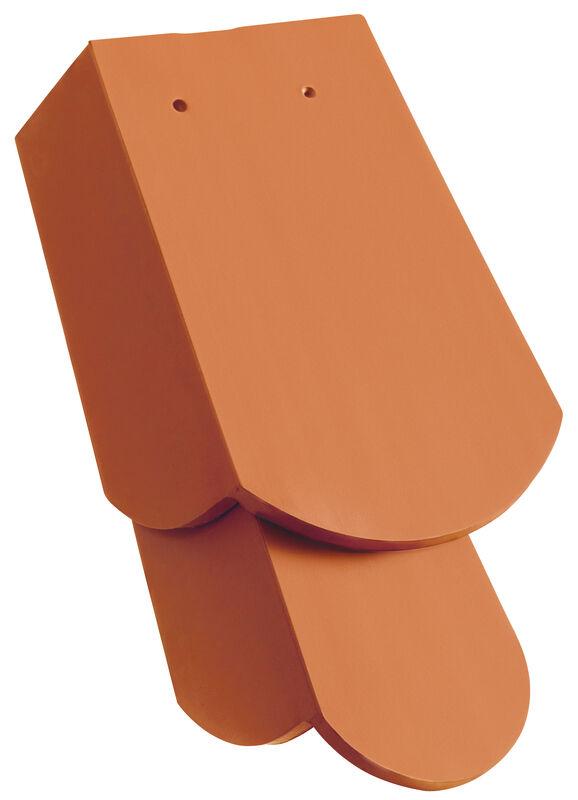 KLASSIK zaoblený tvar, krajná škridla 1 1/4 pravá s dlhým bočným zalomením cca 11 cm