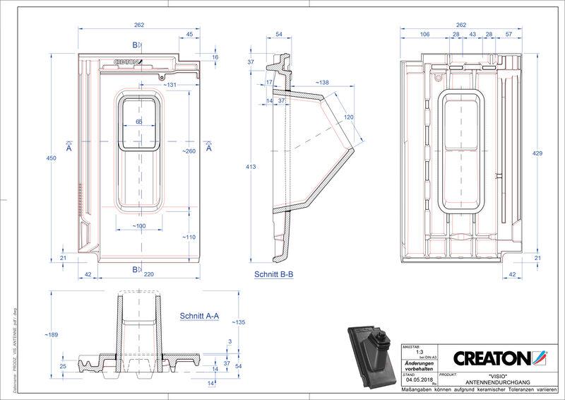 Súbor CAD škridly VISIO anténna škridľa ANTENNE