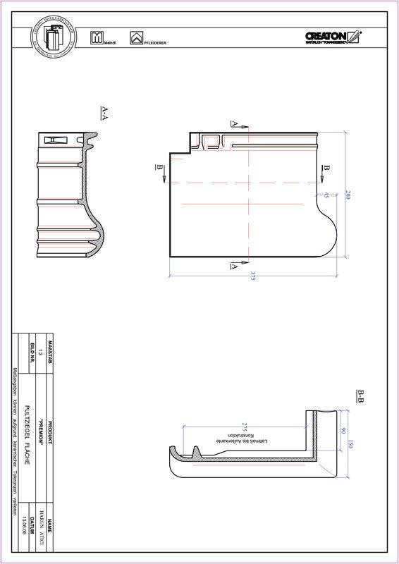 Súbor CAD škridly PREMION pultová škridla PULT