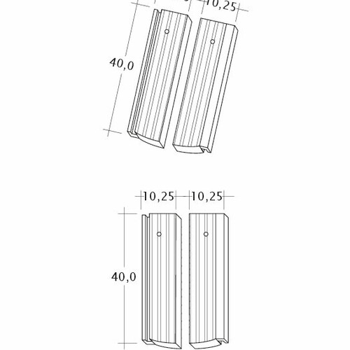 Technický výkres škridly PROFIL Strangfalz-gewellt-1-2