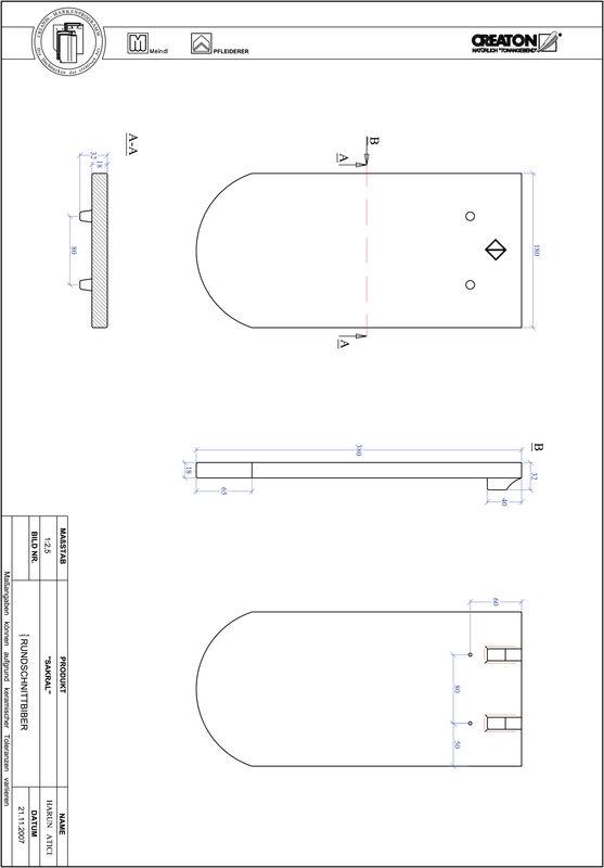 Súbor CAD škridly SAKRAL zaoblený vzor RUND-1-1