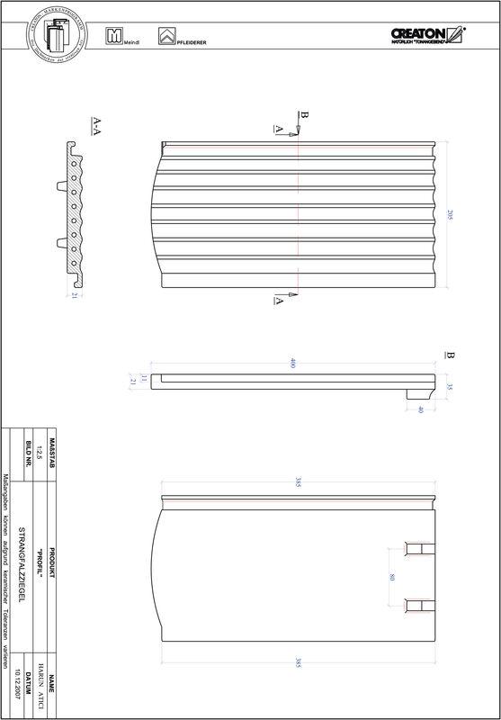 Súbor CAD škridly PROFIL segmentový vzor STRANGFALZ-GEWELLT-1-1