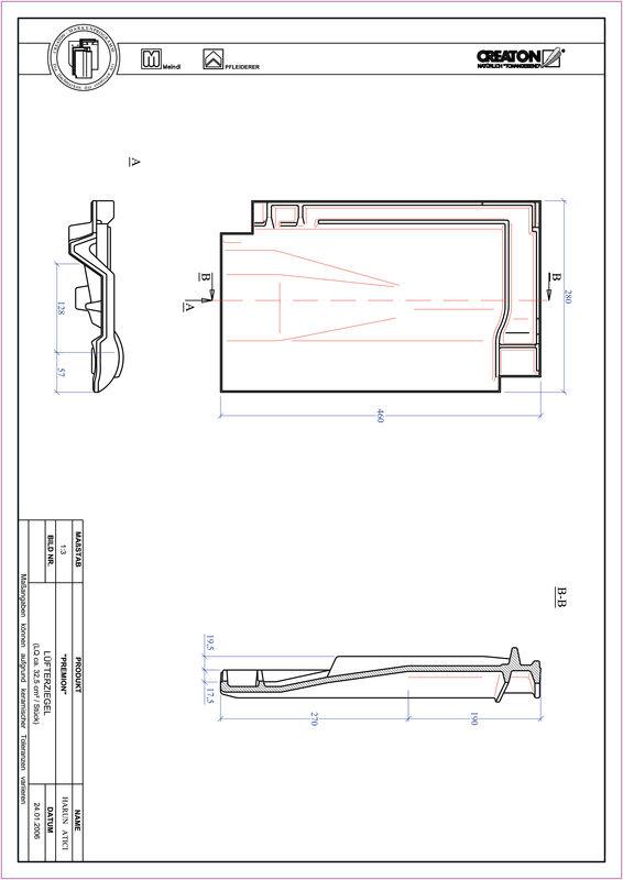Súbor CAD škridly PREMION vetracia škridľa LUEFTZ