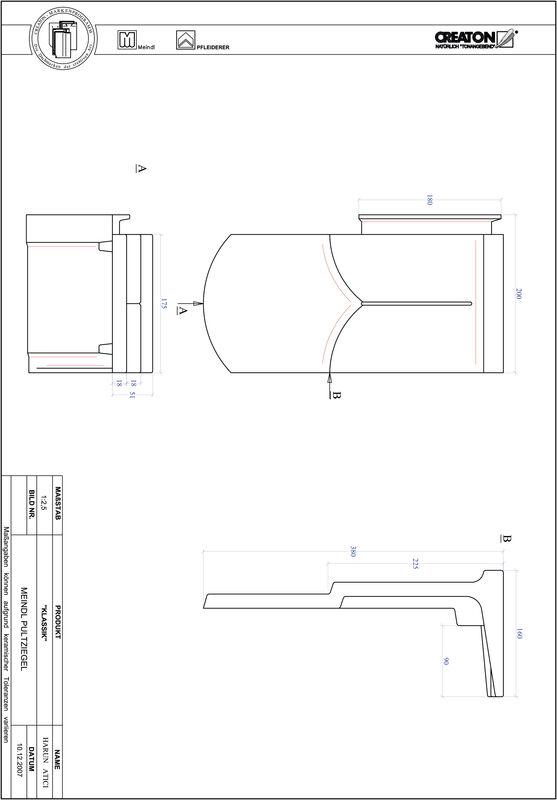 Súbor CAD škridly KLASSIK zaoblený vzor RUND-PULT