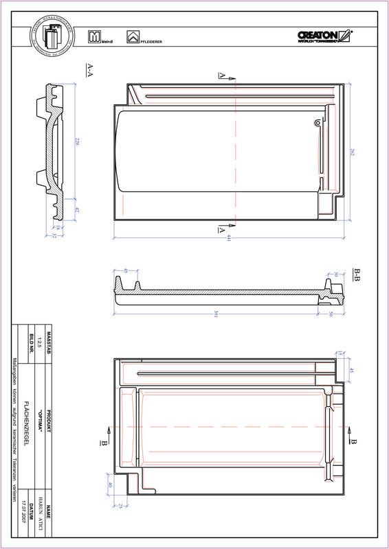 Súbor CAD škridly TERRA OPTIMA škridľa FLA