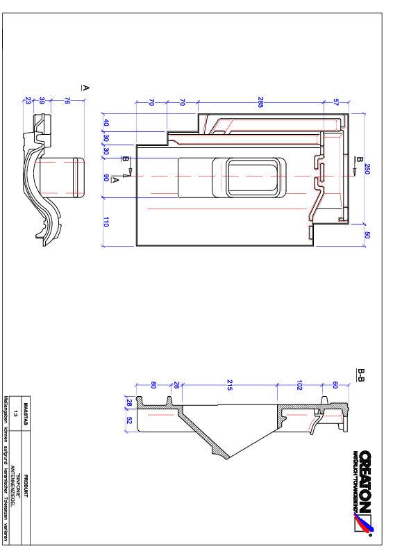 Súbor CAD škridly SINFONIE anténna škridľa ANTENNE