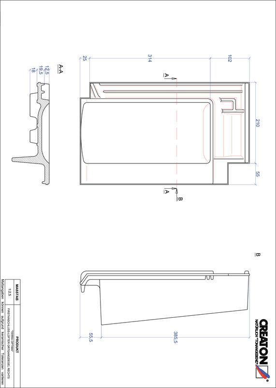 Súbor CAD škridly TERRA OPTIMA podhrebeňová vetracia škridľa krajná pravá FALOGR