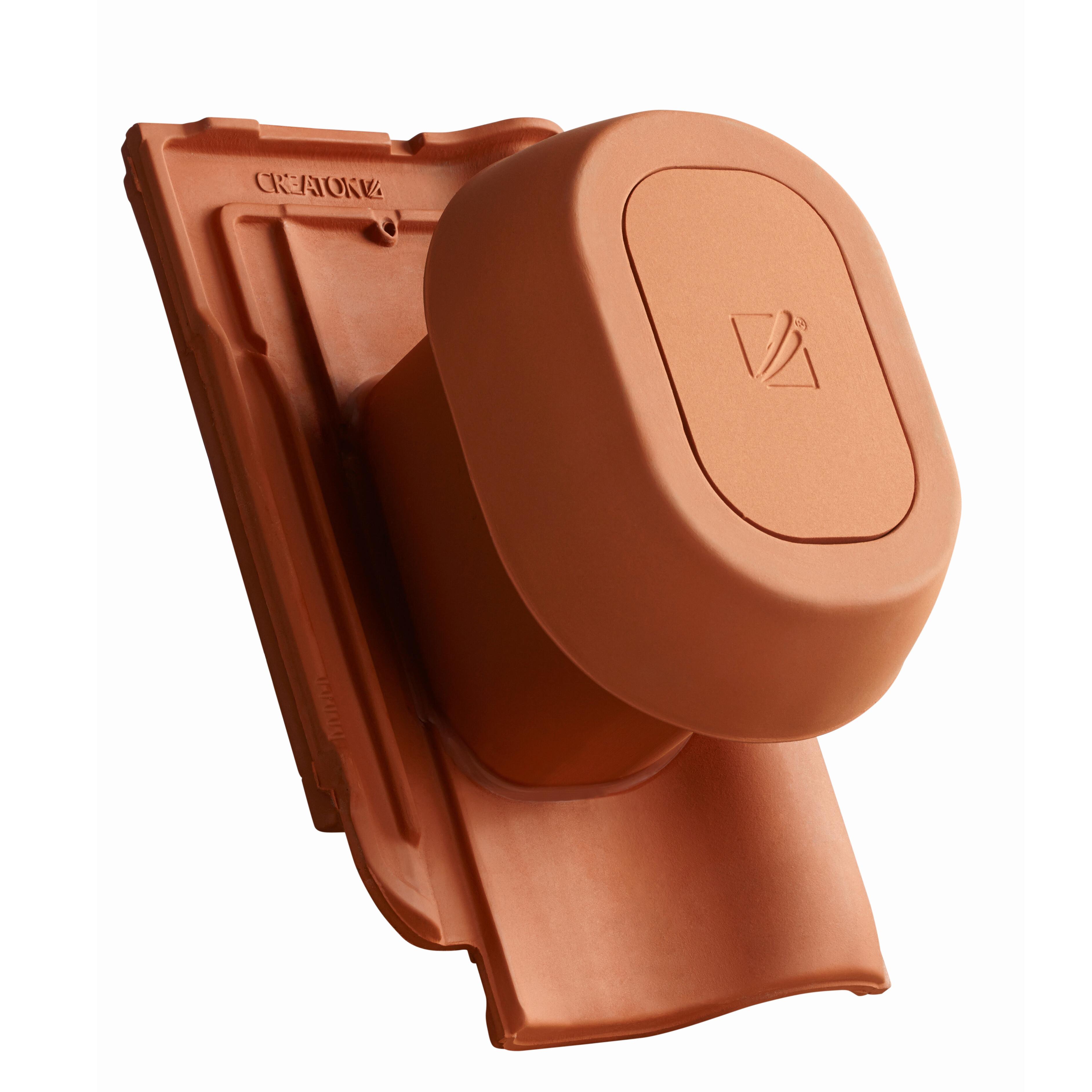 SIGNUMCeramiczny kominek odpowietrzający instalację sanitarną SIGNUM Ø 125 mm  z giętkim przewodem przyłączeniowym