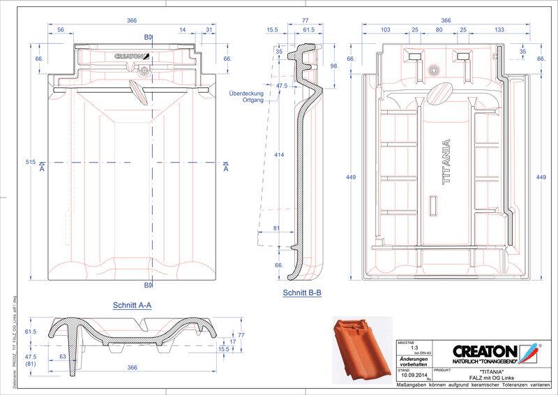 Súbor CAD škridly TITANIA podhrebeňová vetracia škridľa krajná ľavá FALOGL