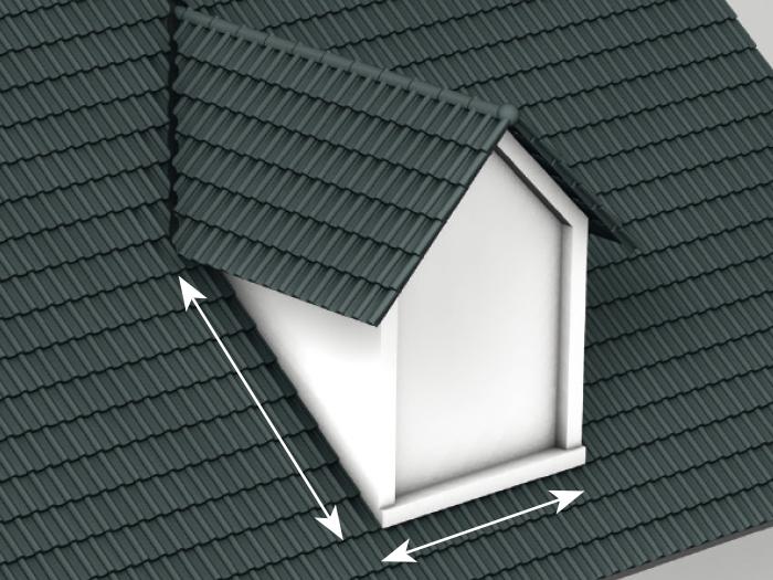 Spojenie plochy strechy a vikiera