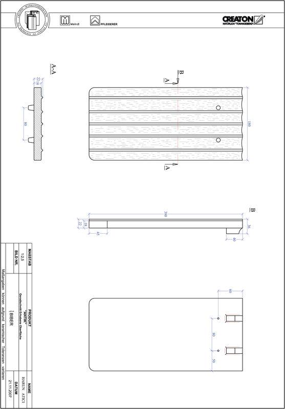 Súbor CAD škridly ANTIK rovný rez GER-ERHO