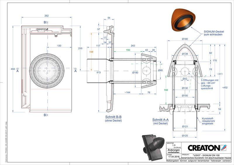 Súbor CAD škridly VISIO SIGNUM SIGNUM-100