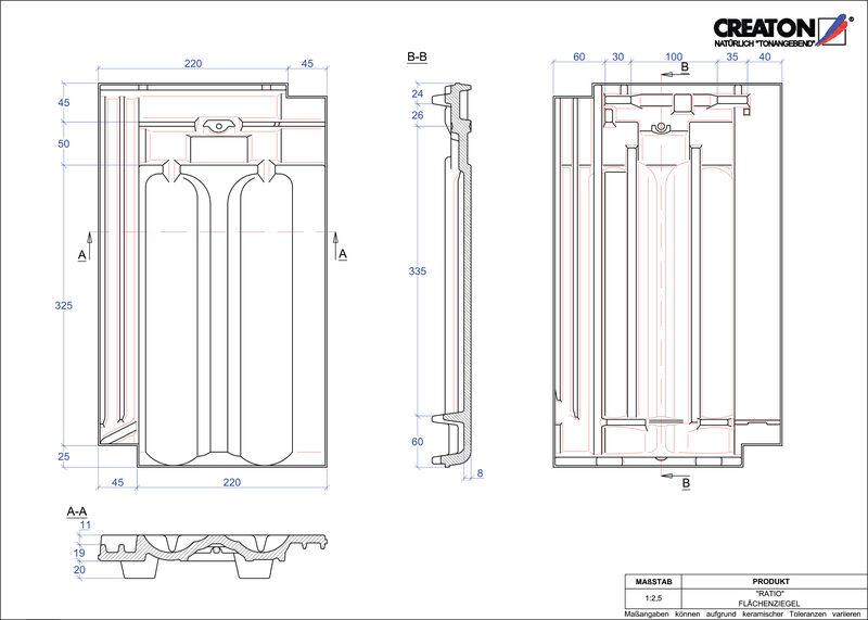 Súbor CAD škridly RATIO škridľa FLA