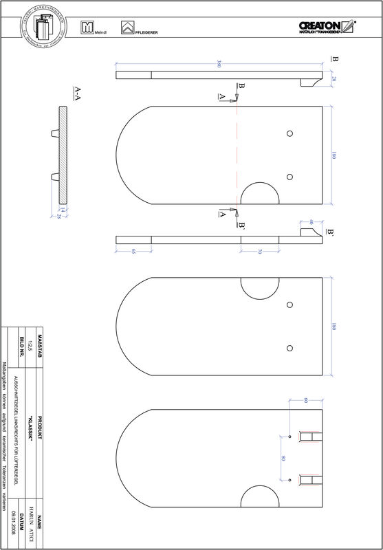 Súbor CAD škridly KLASSIK zaoblený vzor RUND-AUSSCHNITT-LUEFTZ