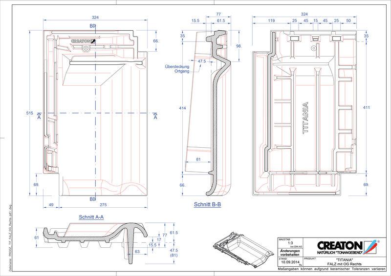 Súbor CAD škridly TITANIA podhrebeňová vetracia škridľa krajná pravá FALOGR