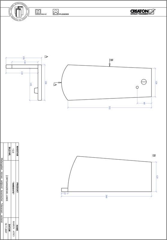 Súbor CAD škridly AMBIENTE segmentový rez SEG-OGL-3-4