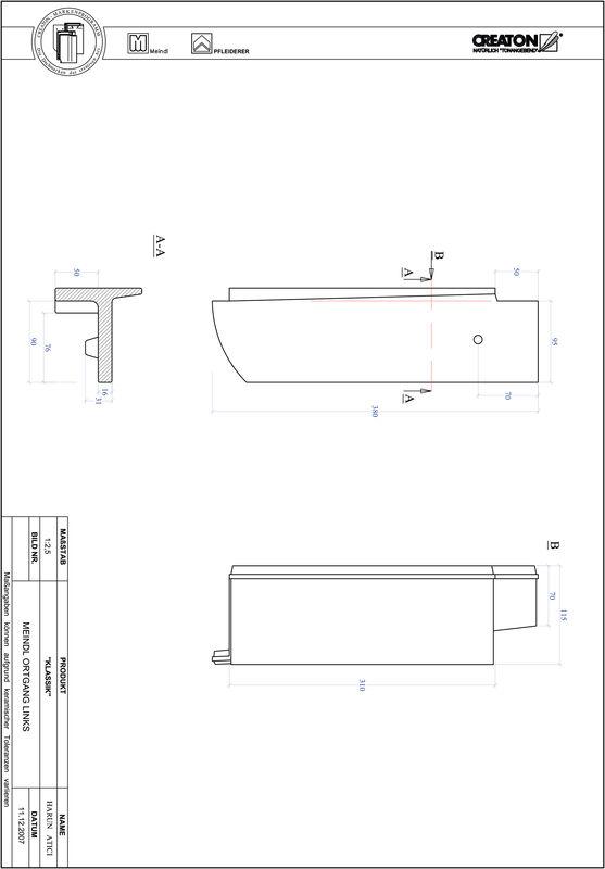 Súbor CAD škridly KLASSIK zaoblený vzor RUND-OGL
