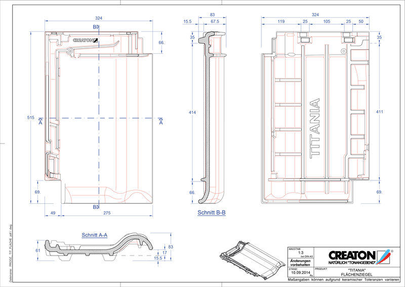 Súbor CAD škridly TITANIA škridľa FLA