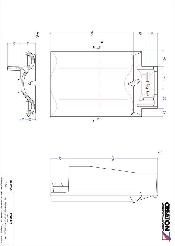Súbor CAD škridly MELODIE podhrebeňová vetracia škridľa krajná ľavá FALOGL