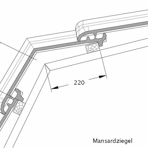 Technický výkres škridly TITANIA MAZ