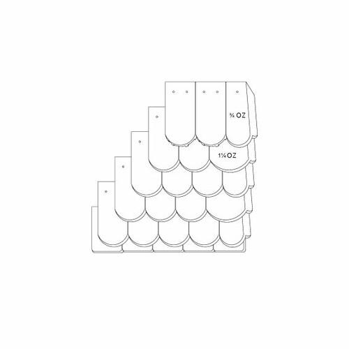 Technický výkres škridly KLASSIK OGAusbildung-Doppeldeckung-mit-OG-3-4-1-1-4-Traufziegel