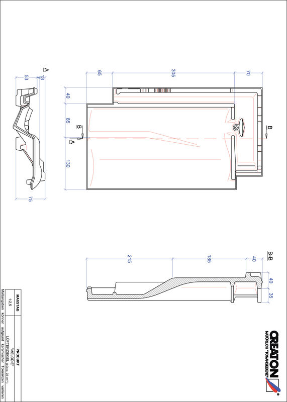Súbor CAD škridly MELODIE vetracia škridľa LUEFTZ
