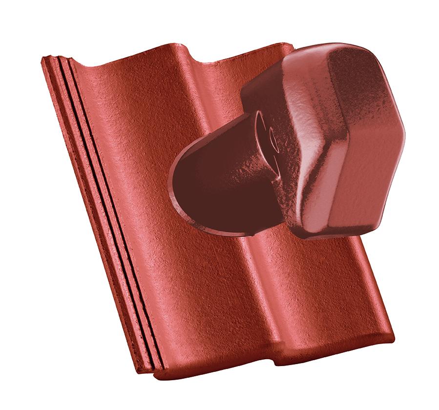 Komínová škridla Ø 125 mm (betónovo-plastová)