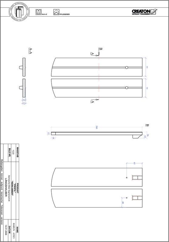 Súbor CAD škridly PROFIL segmentový vzor KERA-SAECHS-15-CM-LH