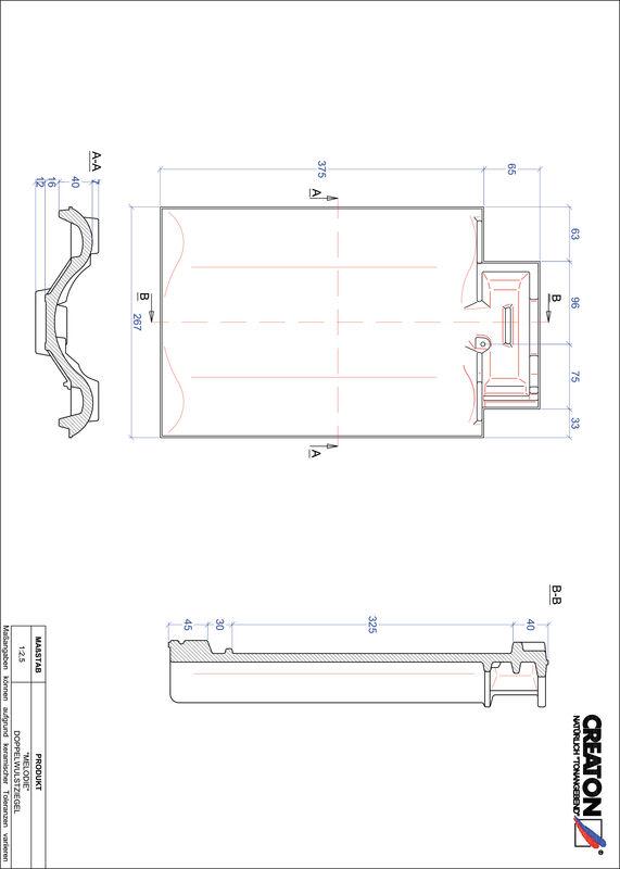 Súbor CAD škridly MELODIE škridľa s dvojitou vlnou DWZ